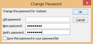 set outlook Password