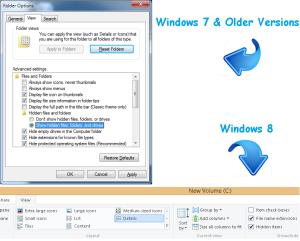Show hidden files and folders windows 7 -8