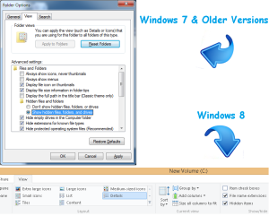 Show hidden files and folders windows 7 -8